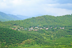 Villages in mountain Stock Photography