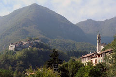 The villages of Puria and Castello on Valsolda Stock Photography