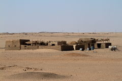 Villages in the Sahara in Sudan Royalty Free Stock Photos