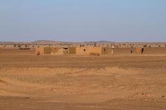 Villages in the Sahara in Sudan Stock Photography