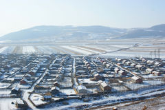 Villages in the snow Stock Photography