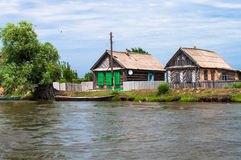 Villages on Volga Stock Images