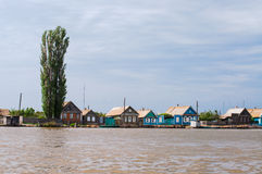 Villages on Volga Royalty Free Stock Photos