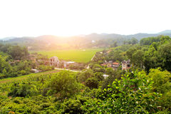 Villages in the wooded foothills Royalty Free Stock Photography
