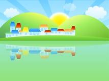 Villaggi illustrazione di stock