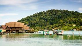 Villaggi del pescatore in Koh Chang, Trat, Tailandia Fotografia Stock Libera da Diritti