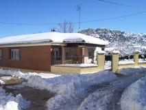 Villaggi della Spagna: Penyacoba, Burgos fotografia stock