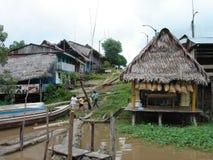 Villaggi fuori dal amazon Fotografia Stock Libera da Diritti