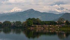 Villaggi intorno a Pokhara Fotografia Stock Libera da Diritti
