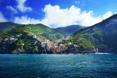 Villaggi sulla costa della provincia di Spezia della La in Luguria, Italia Immagine Stock Libera da Diritti