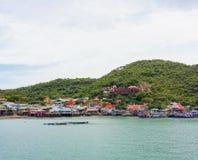 Villaggi sulla spiaggia immagine stock