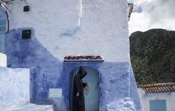 villaggi turistici del Marocco, Chefchaouen Fotografia Stock