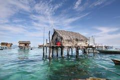 Villaggi zingareschi Semporna Sabah Malaysia del mare Immagini Stock
