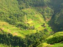 Villaggio 2. dei terrazzi del riso di Ifugao. fotografie stock