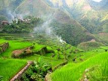 Villaggio 3 dei terrazzi del riso di Batad fotografie stock libere da diritti