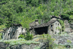 Villaggio abbandonato Immagini Stock