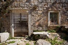 Villaggio abbandonato Croazia fotografia stock