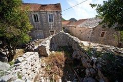 Villaggio abbandonato Croazia immagine stock
