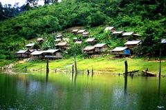 Villaggio aborigeno di Orang Asli immagine stock libera da diritti