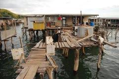 Villaggio ad acqua Fotografia Stock Libera da Diritti