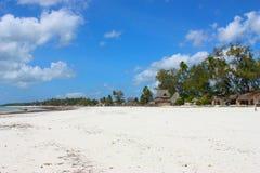 Villaggio africano sulla spiaggia Fotografie Stock Libere da Diritti