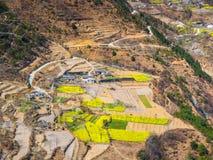 Villaggio agricolo dell'alta terra in Cina Immagini Stock