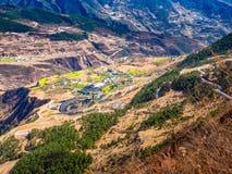 Villaggio agricolo dell'alta terra in Cina Immagine Stock
