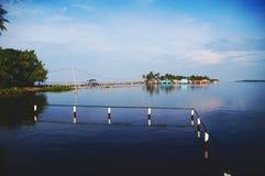 Villaggio al fiume di Catatumbo Fotografie Stock Libere da Diritti