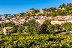 Villaggio-Alpes de Haute Provence, Francia di Aiguines Immagine Stock