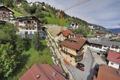 Villaggio alpino Immagini Stock