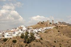 Villaggio andaluso Alora, Spagna Immagine Stock Libera da Diritti