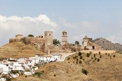 Villaggio andaluso Alora, Spagna Fotografia Stock