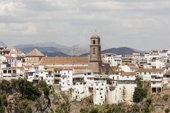 Villaggio andaluso Alora, Spagna Immagine Stock