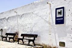 Villaggio andaluso bianco tipico Fotografia Stock