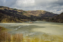 Villaggio annegato Fotografie Stock