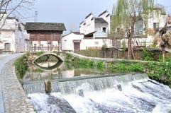 Villaggio antico cinese - villaggio di Pingshan Fotografie Stock