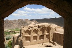 Villaggio antico di Charanak nell'Iran fotografia stock
