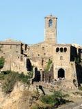 Villaggio antico di Civita di bagnoregio fotografia stock libera da diritti