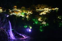 Villaggio antico di Furong (ibisco) alla notte Fotografie Stock Libere da Diritti