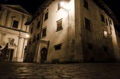 Villaggio antico di notte Fotografie Stock Libere da Diritti