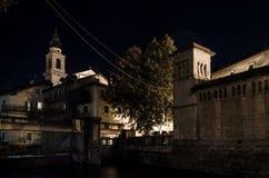 Villaggio antico di notte Fotografia Stock Libera da Diritti