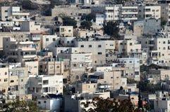 Villaggio arabo di Silwan a Gerusalemme Fotografia Stock