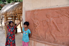 Villaggio artistico in Bolpur Fotografia Stock
