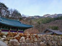 Villaggio asiatico in montagne Immagini Stock
