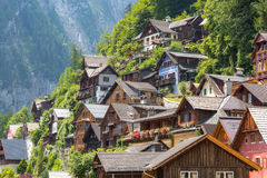 Villaggio Austria di Hallstat Immagine Stock
