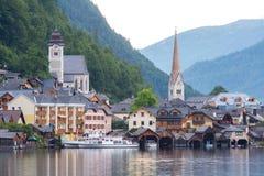 Villaggio Austria di Hallstat Immagini Stock Libere da Diritti