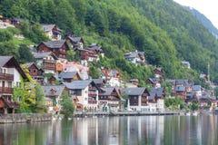 Villaggio Austria di Hallstat Fotografia Stock Libera da Diritti