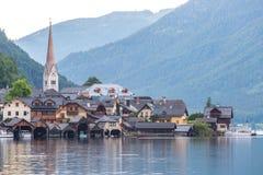 Villaggio Austria di Hallstat Fotografie Stock Libere da Diritti