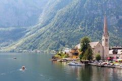 Villaggio Austria di Hallstat Immagini Stock