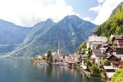 Villaggio Austria di Hallstat Fotografia Stock